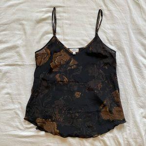 Aritzia black silk camisole
